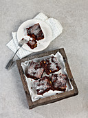 Apple and walnut brownies