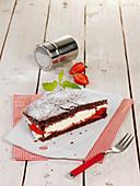 Chocolate sponge omelette cake