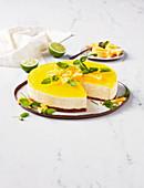 Pine-lime cheesecake