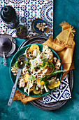 Cauliflower, fennel and orange salad