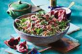 Bulgur, pomegranate and walnut salad