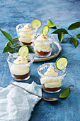 Mini Margarita cheesecake pots