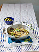 Rummu a stimpirata (plaice fillet with capers, garlic and mint), Sicily, Italy