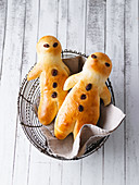 Traditional Weckmänner (person-shaped buns) for St Martin's Day