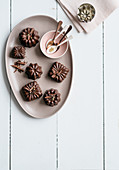 chocolate pudding with walnut liqueur