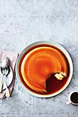 Microwave hazelnut crème caramel