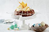 Double chocolate hot cross bun cheesecake