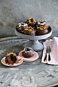 Chocolate orange Bundt cake with coconut glaze (low carb)
