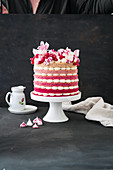 Ombre cake with Italian buttercream (low carb)