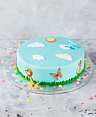 A fondant cake for a child's birthday