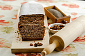 Spelt poppyseed cake with dried fruit