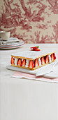 Strawberry millefeuille with lemon cream