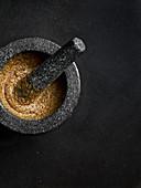 Mustard in mortar