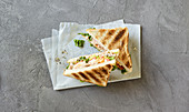 Italian tuna and caper sandwich