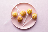 Sweet potato cake pops with dried pineapple