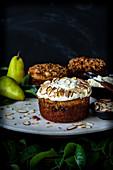 Pear and Nut Cake with Mascarpone Cream