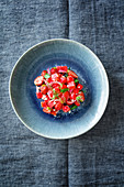 Salad with strawberries, watermelon and feta (Levante cuisine)