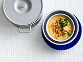 Vegan tomato and coconut curry