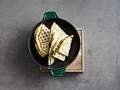 Tex Mex waffle quesadillas with black beans