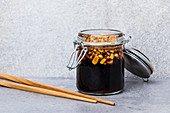 Japanese teriyaki-peanut sauce with honey