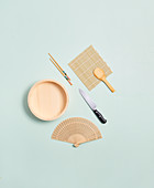 Essential kitchen utensils for making sushi