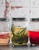 Homemade vinegar in screw top jars