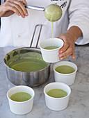 Preparing zucchini flans
