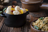 Cauliflower with ptitim (Israel)