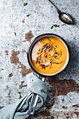 Roasted hokkaido pumpkin cream soup