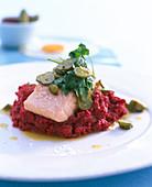 Labskaus with salmon