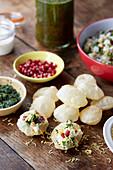 Pani Puri (street food from India)