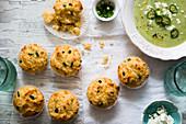 Corn and jalapeno muffins