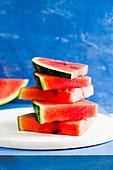Wassermelonenschnitze, gestapelt