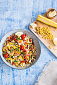 Couscous with grilled corn