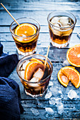 Spanish vermouth with ice and oranges