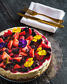 Cheesecake with Mixed Berry Compote