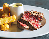Sirloin of beef, triple cooked chips and bearnaise sauce