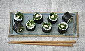 Maki sushi with smoked mackerel