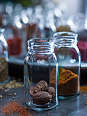 Two jars of spices