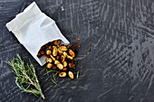 Spiced almonds with rosemary