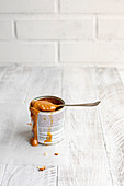 Dulce de leche in tin can