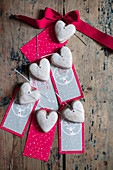 Iced biscuits and gift tags with stag motif
