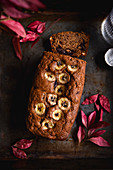 Banana, blueberry and dark chocolate bread