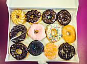 Donuts in box