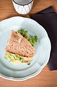 Cheese sandwich with arugula