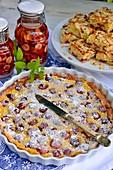 Kirsch-Clafoutis, Kirschkuchen und Kirschlikör
