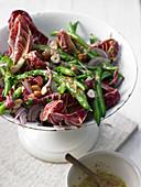 Bean salad with radicchio and hazelnuts