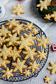 Christmas coconut snowflake cookies