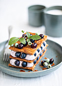A blueberry millefeuille