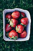 Strawberries in box
